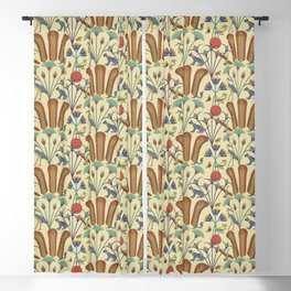 Ancient Egypt Flora and Fauna Blackout Curtain