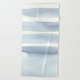 Minimalist Blue Beach Towel