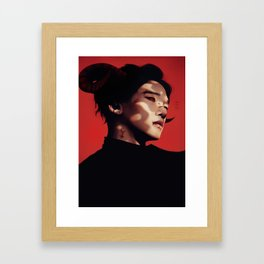 Demon Jongdae Framed Art Print
