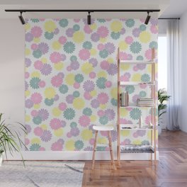 Origami Flowers - Pastel Wall Mural