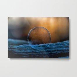 Sunrise Capture in Bubble Metal Print
