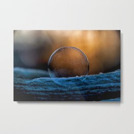 Sunrise Capture in Bubble Metal Print
