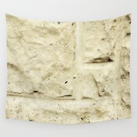 concrete Wall Tapestries featuring Concrete Blocks by The Wellington Boot