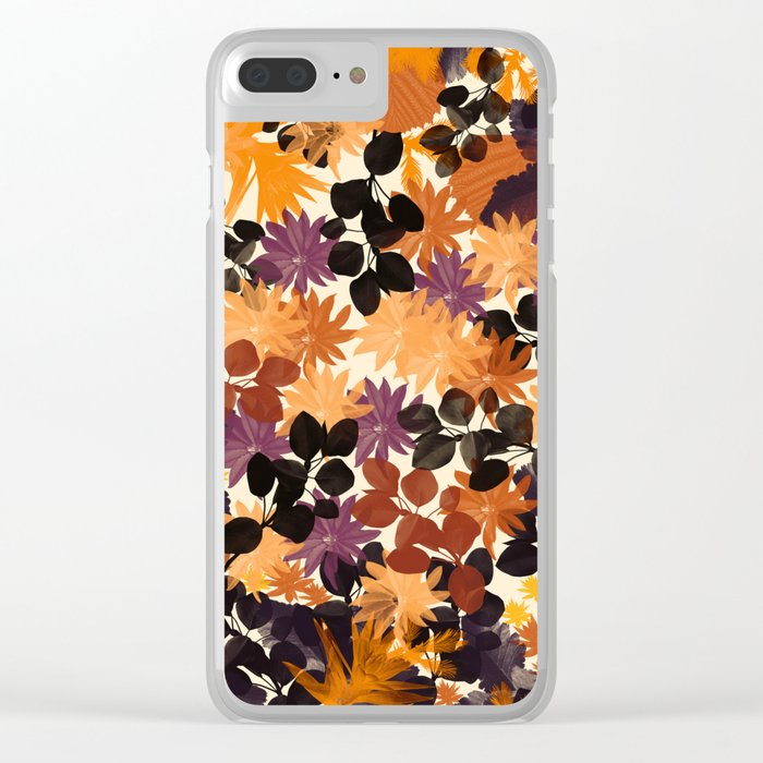 Floral 1 Clear iPhone Case