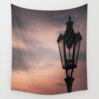 victorian Wall Tapestries featuring Victorian Lantern by Maria Heyens