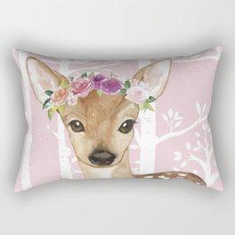 Animals in Forest - The Little Deer Rectangular Pillow