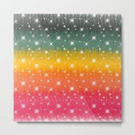 Rainbow Sparkles Paint Trails #9 Metal Print