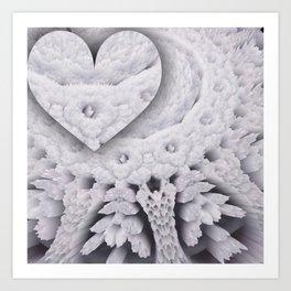heart in openwork Art Print