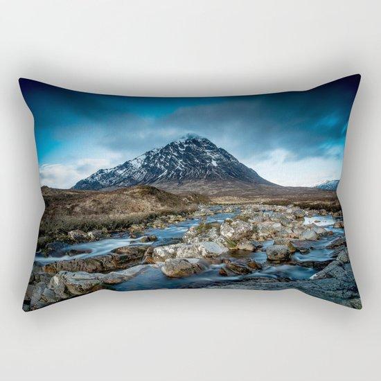 Mountain ice clouds blue Rectangular Pillow