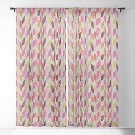 Arizona Summer - Ikat Print Sheer Curtain