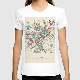 Colorful City Maps: Turin, Italy T-shirt