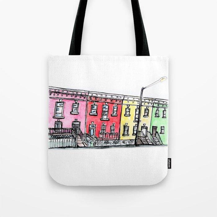 DC row house no. 1 II Columbia Heights Tote Bag