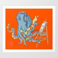 The Multitasker Art Print