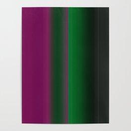 Emerald Green Ultra Violet stripes Poster
