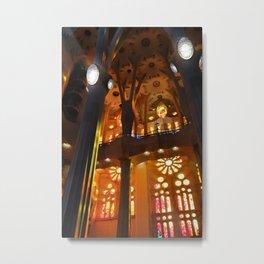 Sagrada Familia Vitraux Metal Print