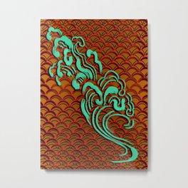 Fishscales Orange Metal Print