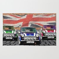 mini cooper Area & Throw Rugs featuring Mini Cooper Trio by Inspired Images