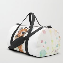 Giraffe Baby Watercolor Duffle Bag