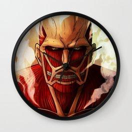 Colossal titan artwork Wall Clock