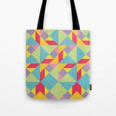 Colorful Tangram Pattern Tote Bag