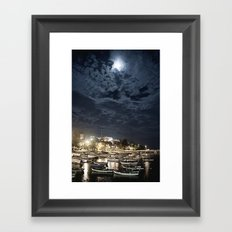 And the Moon to Rule the Sea Framed Art Print
