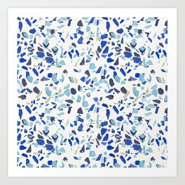 Terrazo azul Art Print