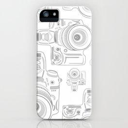 Grey Cameras iPhone Case