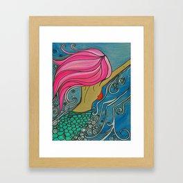 Fuchsia Mermaid Ocean Art by Lauren Tannehill Art Framed Art Print