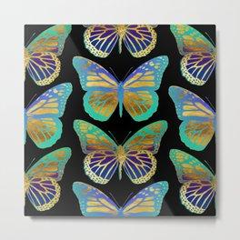 Pop Art Butterflies Metal Print