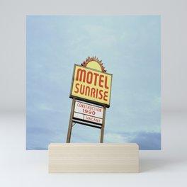 Motel Sunrise Mini Art Print