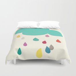 Sunshine and Showers Duvet Cover
