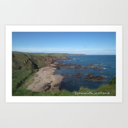 eyemouth ,scotland Art Print