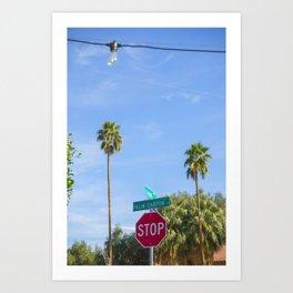 Palm Canyon Drive Art Print