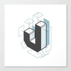 The Exploded Alphabet / J Canvas Print