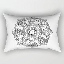 Ornamental hand drawn mandala Rectangular Pillow