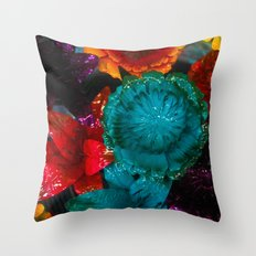 To Smell The Flowers Throw Pillow