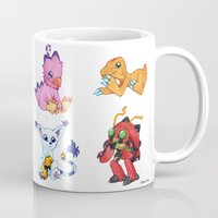 digimon Mugs featuring Digimon Group by Catus