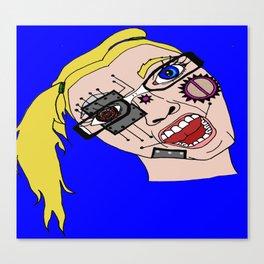 Cyborg teenager Canvas Print