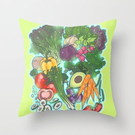 When in doubt Veg it Out Throw Pillow