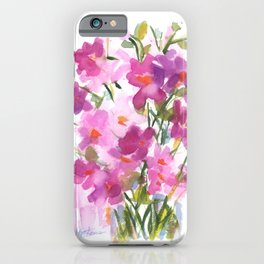 Pink Cosmos Bouquet iPhone Case
