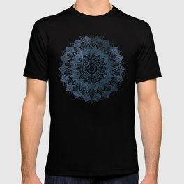 BOHOCHIC MANDALA IN BLUE T-shirt