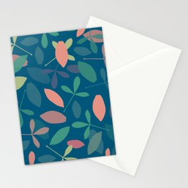 Leaves: Blue Stationery Cards