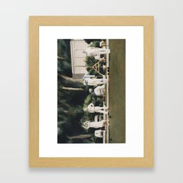 Lawn Bowls Game Lawn Bowlers Framed Art Print