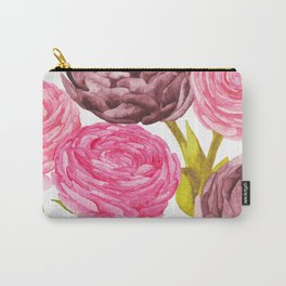 Ranunculus + Peonies Carry-All Pouch