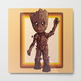 Dancing Baby Twig Guardians of the Galaxy Metal Print