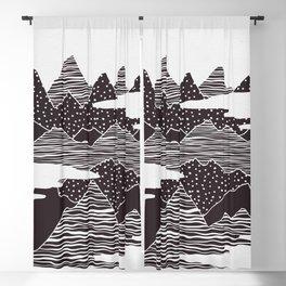 Mountain Peaks Digital Art Blackout Curtain