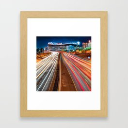 Stadium at Mile High - Denver Colorado - Square Format Framed Art Print