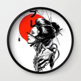 Vaporwave Cyberpunk Japanese Urban Style  Wall Clock