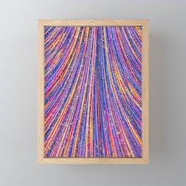 farrah - bright abstract fan design purple pink royal blue Framed Mini Art Print