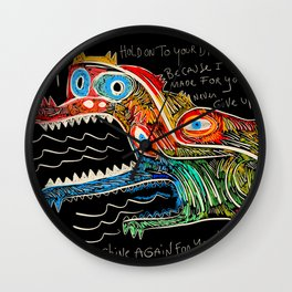 Hold on to your dreams Street Art Graffiti Wall Clock